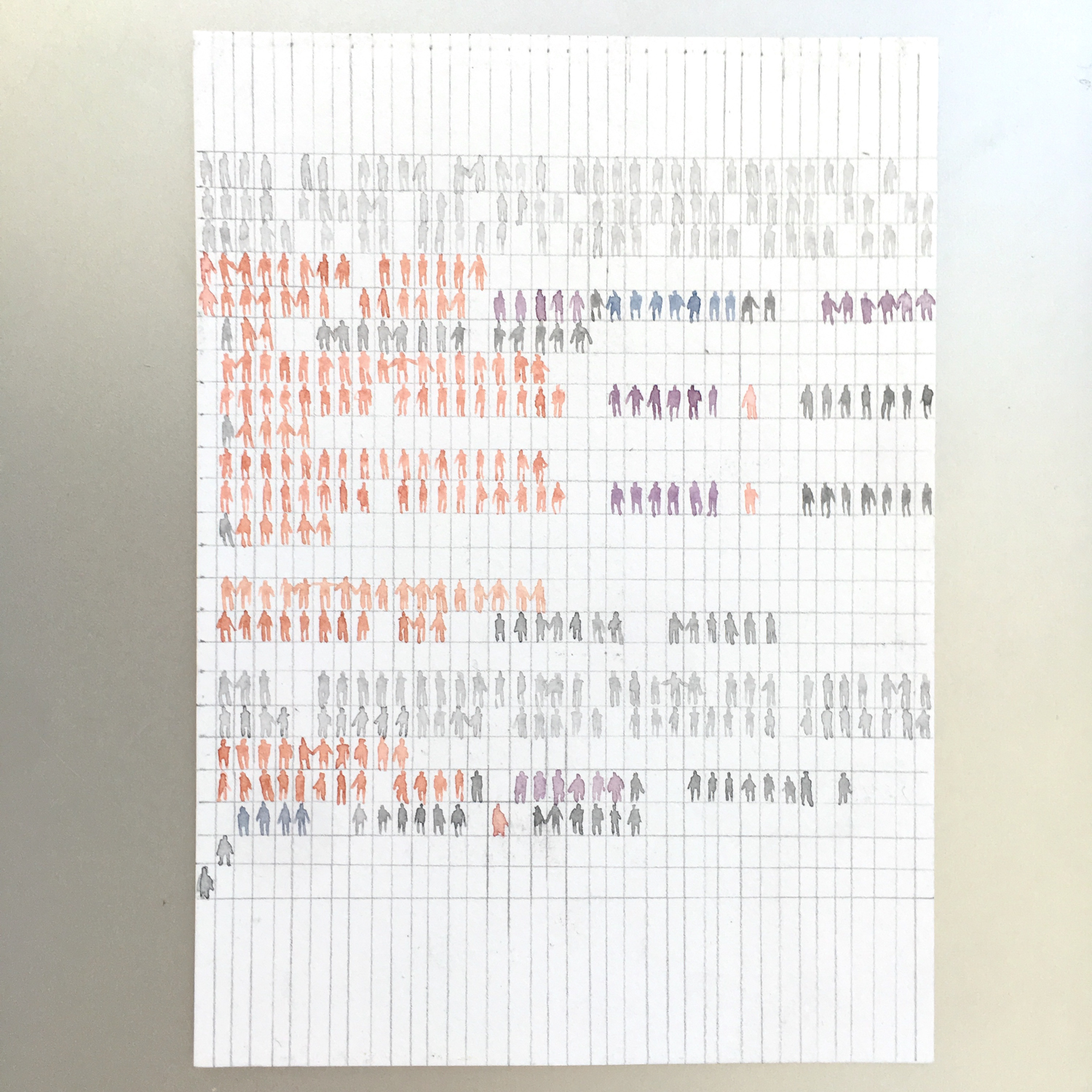 Array. Watercolor and pencil on paper. The colors here represent the default syntax highlighting in Swift.
